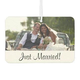 Just Married, Custom Wedding Photo Gift Car Air Freshener