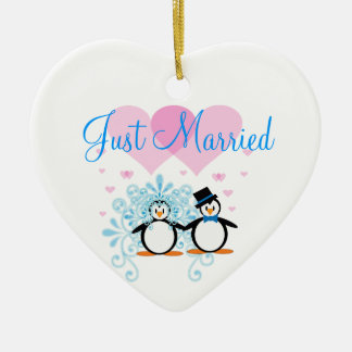 Just Married - Customizable Ceramic Ornament