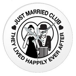 Just Married Customizable Wedding Clock