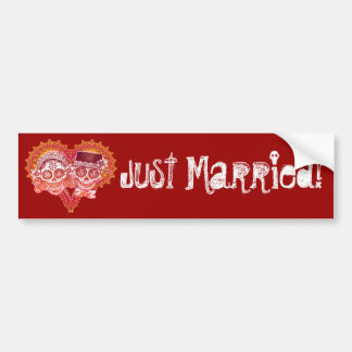 Just Married - Day of the Dead Bumper Sticker