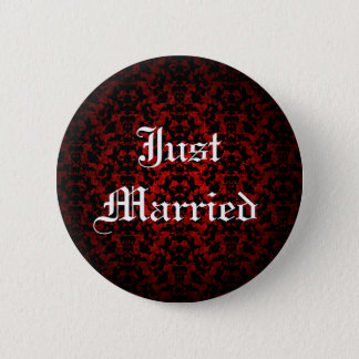 Just married elegant Gothic button