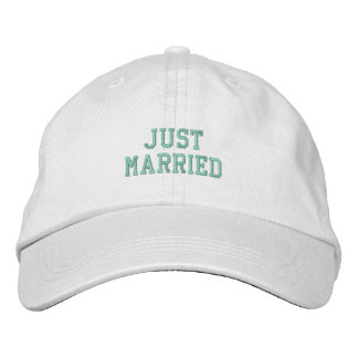 Just Married! Embroidered Hat