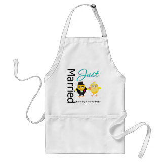 Just Married For As Long As We Both Shall Live Standard Apron