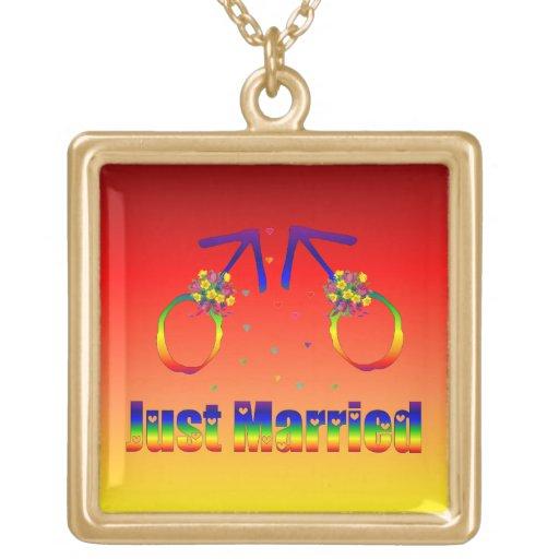 Just Married Gay Men Custom Jewelry