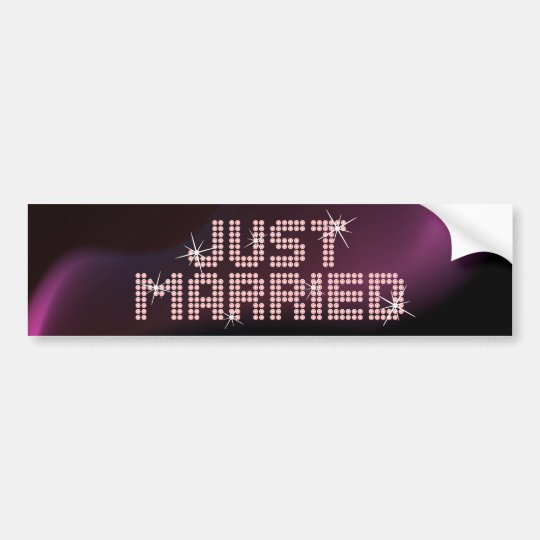 Just Married Glamour bumper sticker