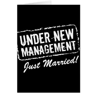 Just Married greeting cards | Under new management