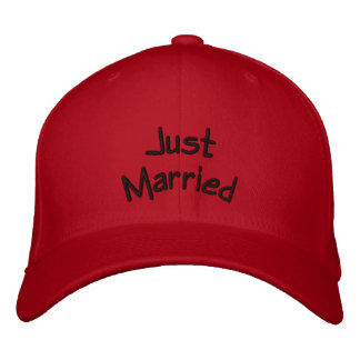 Just Married hat Embroidered Hat