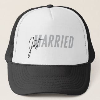 Just Married Hat for him | Newlywed Hat - Grey
