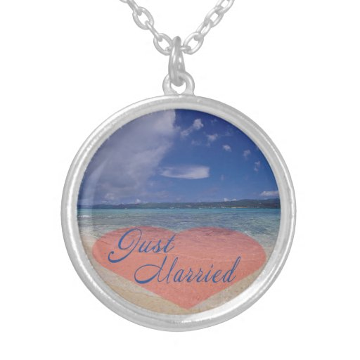 Just Married Heart On The Beach Jewelry