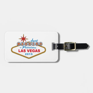 Just Married In Fabulous Las Vegas 2014 (Sign) Luggage Tag