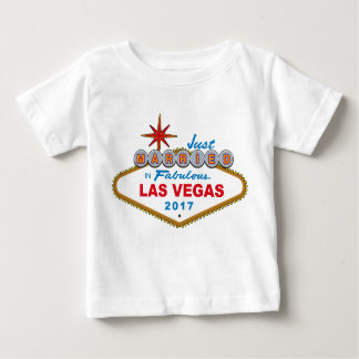 Just Married In Fabulous Las Vegas 2017 (Sign) Baby T-Shirt