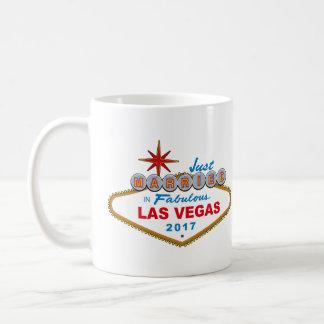 Just Married In Fabulous Las Vegas 2017 (Sign) Coffee Mug
