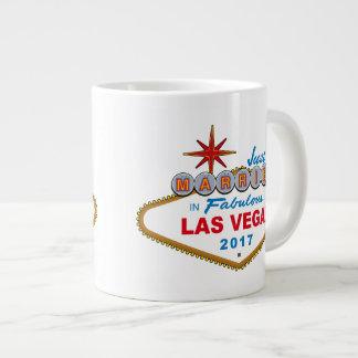 Just Married In Fabulous Las Vegas 2017 (Sign) Large Coffee Mug