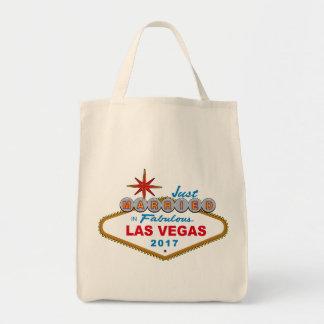Just Married In Fabulous Las Vegas 2017 (Sign) Tote Bag
