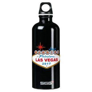 Just Married In Fabulous Las Vegas 2017 (Sign) Water Bottle