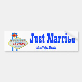 Just Married in Las Vegas Bumper Sticker