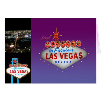 Just Married in Las Vegas Wedding Invitations