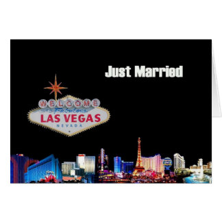 Just Married Las Vegas Card