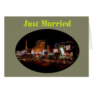 Just Married Las Vegas Strip Cards