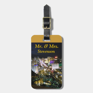 Just Married Las Vegas Wedding Bag Tag
