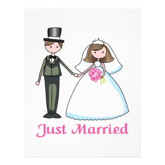 Just Married Customized Letterhead