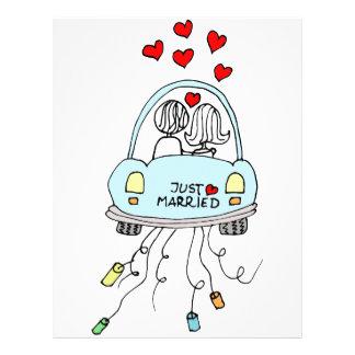 Just Married Letterhead Design