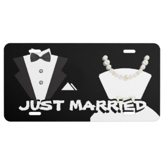 Just Married License Plate Cover License Plate