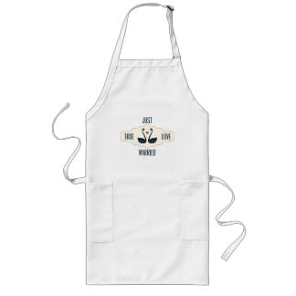 Just Married Long Apron