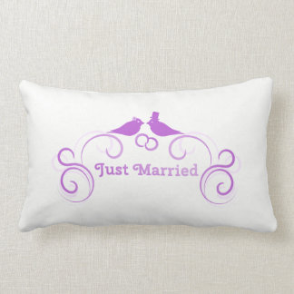 Just Married Lumbar Pillow
