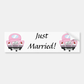 just+married,married+car,cartoon+marriage+car,marr bumper stickers