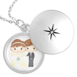 Just Married - Medallion Locket Necklace
