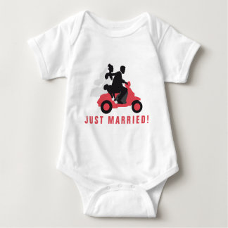 just married more scooter baby bodysuit