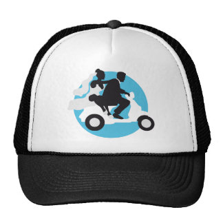 just married more scooter trucker hat