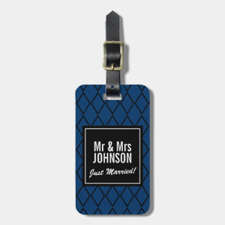 Just married Mr and Mrs travel luggage tags