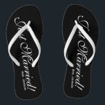 3798994f25232a Just Married Mr Mrs flip flops for bride and groom br  div class