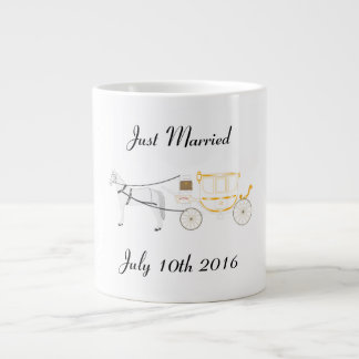 Just Married Mug with Horse and Carriage