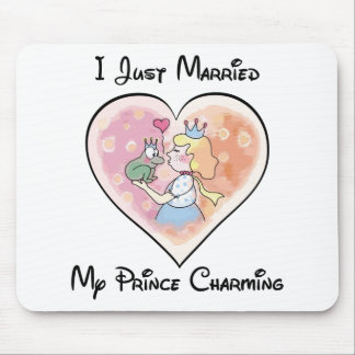 Just Married My Prince Mouse Pad