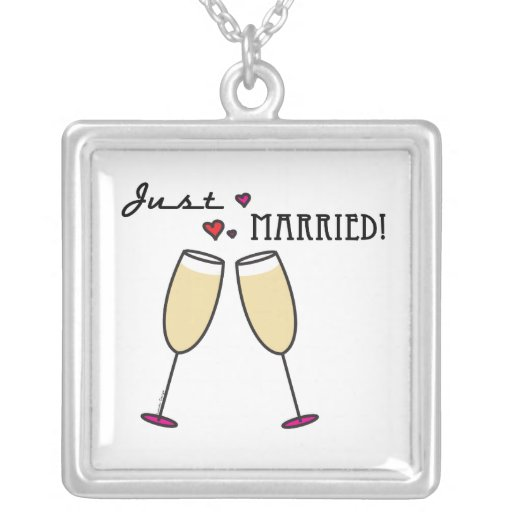 Just Married Custom Necklace
