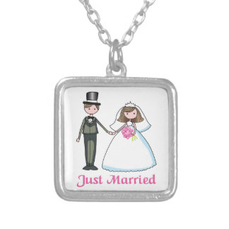 Just Married Personalized Necklace