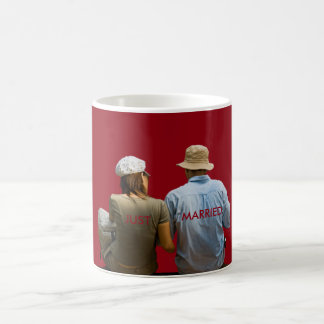 Just Married New Wedding Red Name Honeymoon Coffee Mug