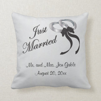 Just Married  | Personalized Throw Pillow
