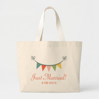 Just Married Personalized Tote Bag