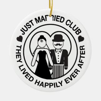 Just Married Personalized Wedding Ornament Gift