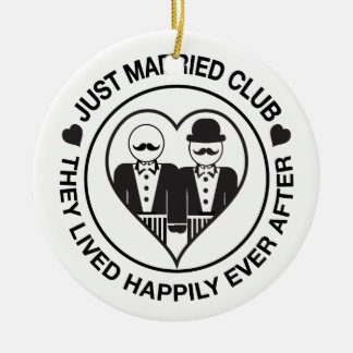 Just Married Personalized Wedding Ornament LGBT