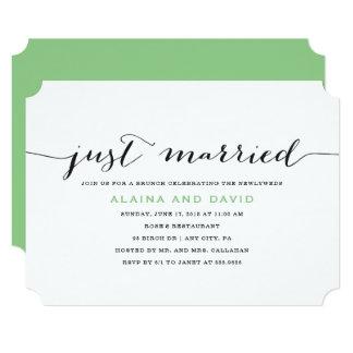 Just Married Post Wedding Brunch Invitation