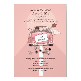 Just Married Post Wedding Brunch Invitation