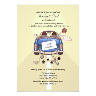 Just Married Post Wedding Brunch Invitation - yell