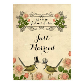 Just married postcards thank you personalized