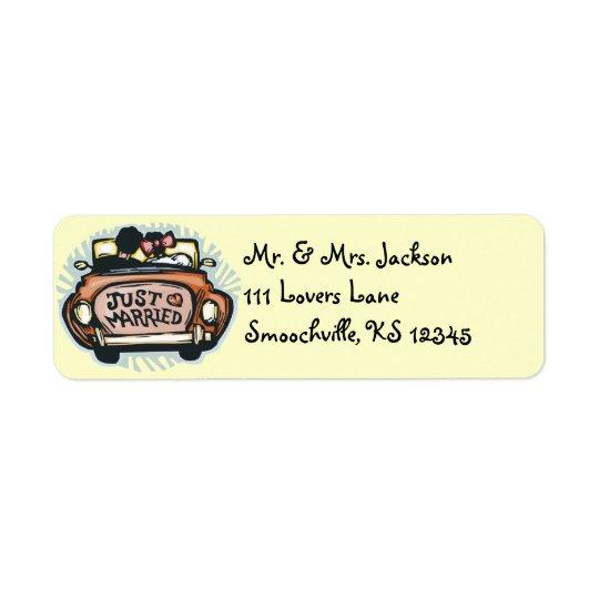 Just Married Return Address Labels