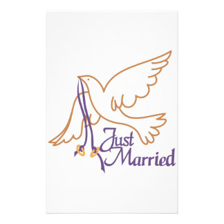 Just Married Rings Custom Stationery
